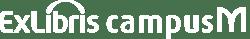 campusM Logo - White - wide